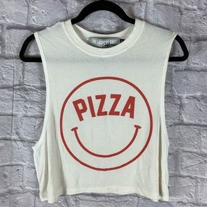 The Laundry Room Pizza Muscle Crop Tank